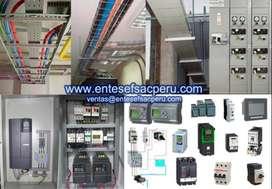Variadores de velocidad, bandejas portacables, arrancadores suaves, contactores, interruptores, Automatización