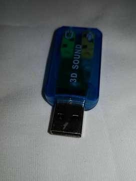 tarjeta de sonido externa usb computador y portatil