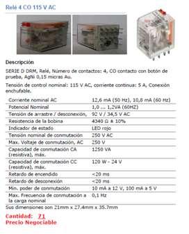 Relé 4 Contactos CO 115 V AC