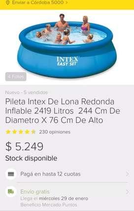 Vendo pileta INTEX inflable de 244x76 NUEVA EN CAJA CERRADA