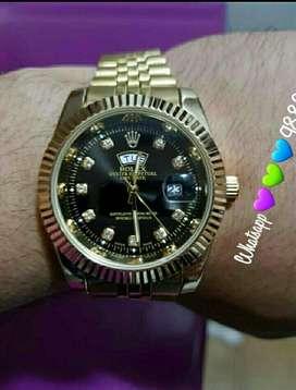 Reloj Rolex Doble Fecha Gold