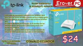 Router Inalámbrico  N 300MbpsTL-WR840N