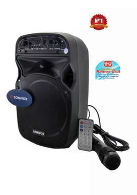 Cabina parlante Bluetooth USB SD micrófono sonivox Oferta limitada 6.5''
