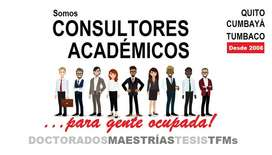Apoyo académico de Tesis, Maestrías y Doctorados.