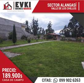 Vendo casa de campo sector de Alangasí - Valle de los Chillos