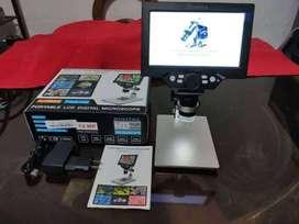 Ofrezco para la venta UN MICROSCOPIO Pantalla LCD Digital Electrónica Microscopio para Reparación de Teléfono Móvil