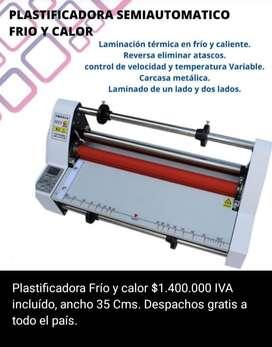 PLASTIFICADORA SEMIAUTOMATICA FRIO Y CALOR