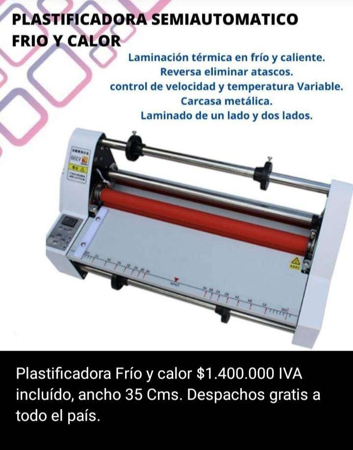 PLASTIFICADORA SEMIAUTOMATICA FRIO Y CALOR 0