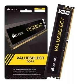 Memoria Ram Corsair 4GB DDR4 2400MHz - 2666MHz