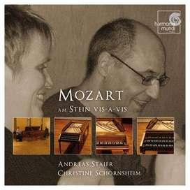 CD- Wolfgang Amadeus Mozart: On the 'Stein vis-à-vis'  - Andreas Staier & Christine Schornsheim.