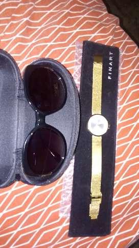 Se vende reloj de oro más gafas solares