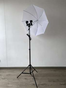 Iluminacion socket doble fotografia video
