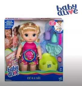 Hermosa muñeca baby alive va al baño 100% original