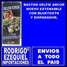 BASTON SELFIE CON BLUETHOOH Y DISPARADOR