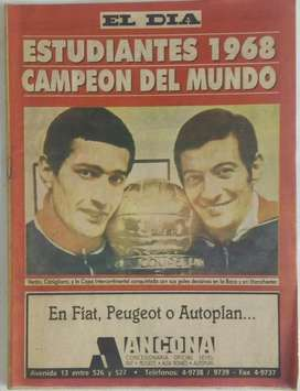 Revista El Día - Estudiantes 1968 Campeón Del Mundo.