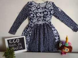 Hermoso vestido , marca loggin talla 8