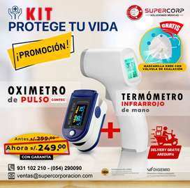 oximetro+ termometro infrarrojo
