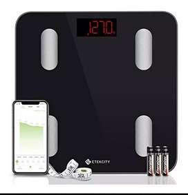 Báscula inteligente Bluetooth . masa muscular, % grasa corporal, grasa visceral,  metabolismo