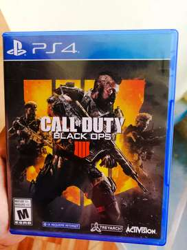 Juego ps4 call of duty BLACK ops 4