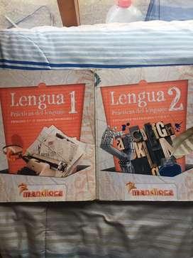 Libros Lengua 1 y 2