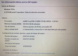 Laptop HP Elitebook 850 G3 i5, SSD 240, 15 pulgadas, 8gb RAM, 9.9/10