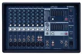 Consola potenciada Yamaha EMX212S, 12 canales, estéreo de 500 watts