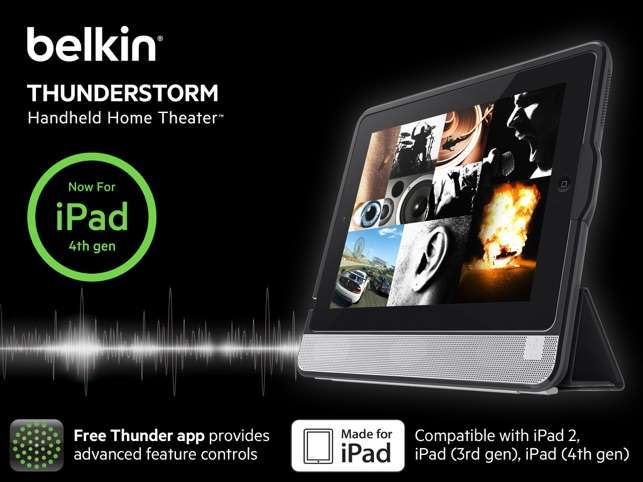 Parlante Belkin Smart Cover Thunderstorm Ipad 4.