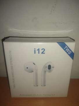 Audífonos Bluetooth i12 nuevos varías unidades