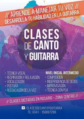 Clases de Canto y/o Guitarra