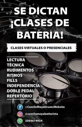 SE DICTAN CLASES DE BATERÍA EN MODO VIRTUAL O PRESENCIAL