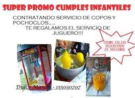 SERVICIO DE COPOS Y POCHOCLOS DULCE MANDY