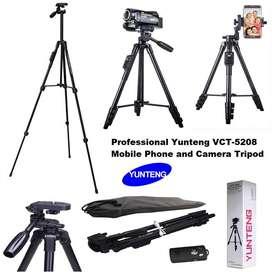 Trípode para cámara y teléfono Yunfeng trípode 3388 con botón Bluetooth (negro)