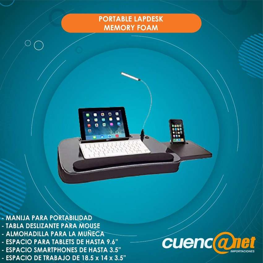 Portable Lapdesk Memory Foam Escritorio Portátil Para Tablet