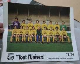 Antiguo fotocromo equipo del FC NANTES de Francia 1973/74 Ángel Bargas
