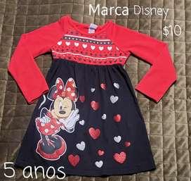 Vestido Disney, 5 anos, como nuevo