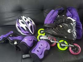 KIT COMPLETO PATINES SEMI PROFESIONALES MARCA CANARIAM