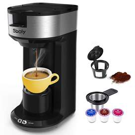Promoción Cafetera Sboly Para Cafe Molido Y K Cups