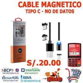 CABLE MAGNETICO PARA TIPO C - V8 Y iPHONE