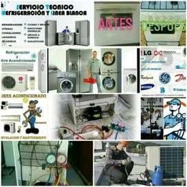 Servicio tecnico de lavadora nevera y instalación de aire