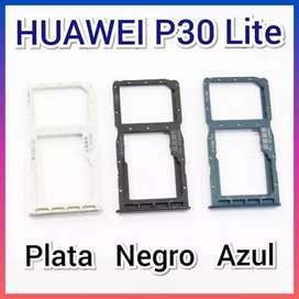 Bandeja sim card para chips Huawei P30 P30 lite y Mate 10 nuevo