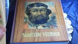 Libro Martin Fierro Tapa de Madera.
