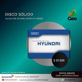 "Disco Estado Solido Hyundai SSD 480GB , 3D NAND, SATAIII 2.5"""