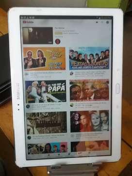 Samsung Galaxy Pro tablet de 10.1 pulgadas cargador cable estuche manchitas en la pantalla fotos reales