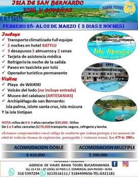 TOUR TOLU COVEÑAS SALIDA FEBRERO 28
