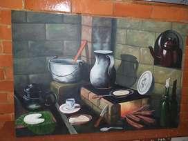 Cuadro Pintado Al Oleo sobre Lienzo