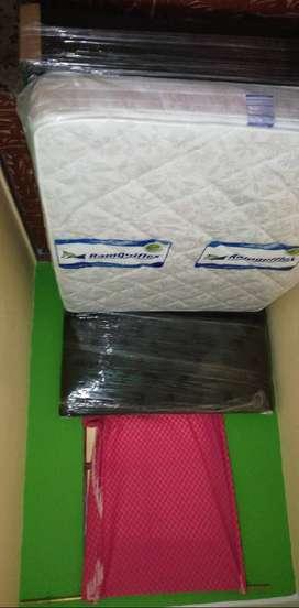 Se vende base cama espaldar con colchón semi ortopedico