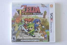 Legend of Zelda Tri Force Heroes original Nintendo 3ds