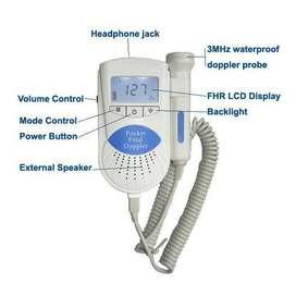 Doppler Fetal Monitor De Ritmo Cardíaco + Baterías + Gel (Valor de Domicilio Incluído)