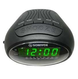 Radio AM-FM Reloj Despertador