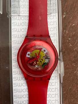 Reloj de Swatch rojo